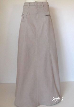 Product Photo - Simply Casual Beige Denim Skirt