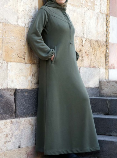 Product Photo: Hiba Maxi Hoodie in Olivine